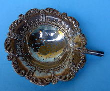 STERLING SILVER VICTORIAN TEA STRAINER CIRCA 1900 FANCY