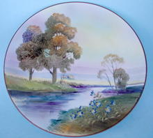 NIPPON MORIAGE LANDSCAPE PLATE NORITAKE QUALITY WORK