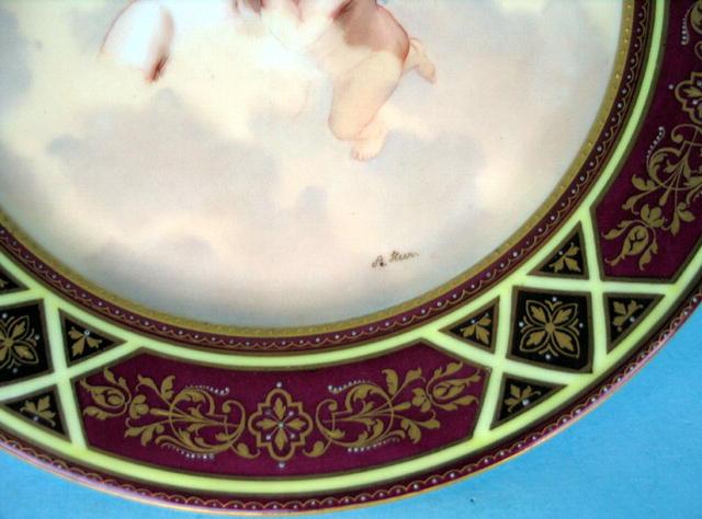 FINE ROYAL VIENNA LIEBESTRAUM SIGNED PLATE W/ CUPID
