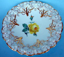 FINE MEISSEN QUALITY PLATE W/HEAVY GILT FLORALS NICE