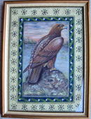 INCREDIBLE PASTEL PAINTING OF EAGLE ON ROCK WOW