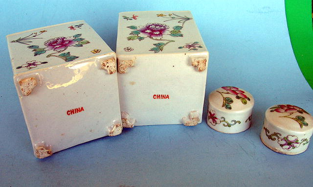 OUTSTANDING CHINESE TEA CADDY MATCHING PAIR REPUBLIC