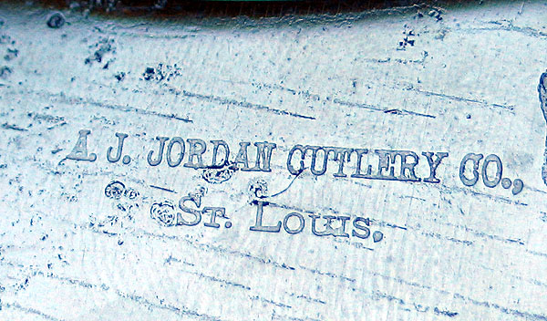 MOTHER OF PEARL HANDLED CHEESE KNIFE A JORDAN ST LOUIS