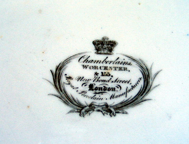 SIGNED CHAMBERLAIN'S WORCESTER DR. WALL DESSERT PLATE