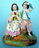 VICTORIAN STAFFORDSHIRE FIGURE OF COUPLE FINE QUALITY