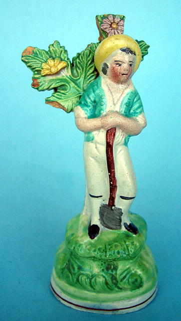 EARLY STAFFORDSHIRE CREAMWARE FIGURE GEORGIAN VICTORIAN