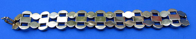 FINE QUALITY 14K GOLD BRACELET ART DECO CRAFTS LOOK