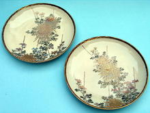 FINE QUALITY PAIR OF SATSUMA PLATES JAPANESE