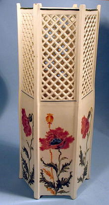 FINE ROYAL VIENNA TURN RETICULATED VASE ART NOUVEAU