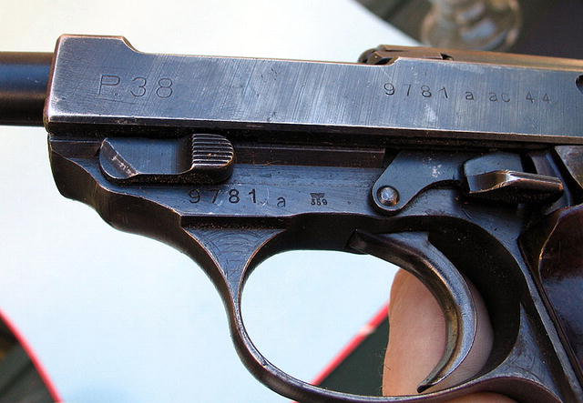 NAZI GERMAN WALTHER P38 WITH EXTRA CLIP LUGER HOLSTER