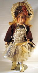 KESTNER 196 DIMPLED BISQUE GERMAN DOLL