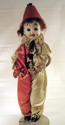 WOW FINE ANTIQUE FRENCH CLOWN DOLL 19