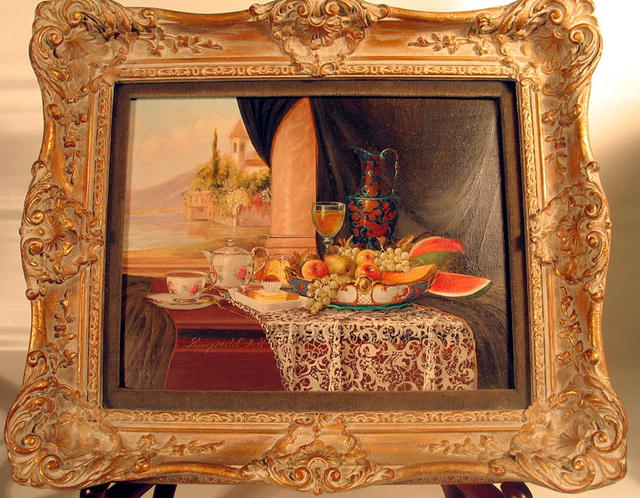 BEAUTIFUL OIL PAINTING REINPRECHT, J. K. LISTED