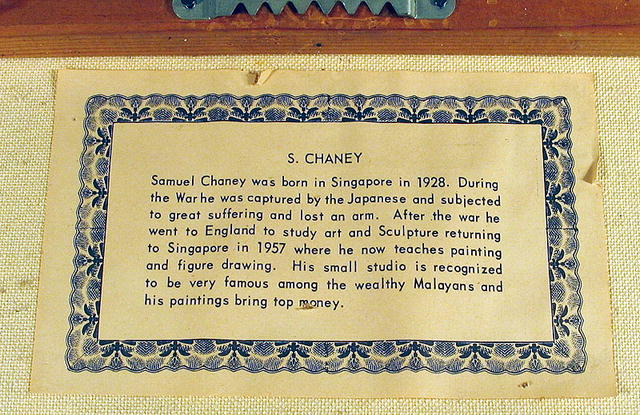 SAMUEL CHANEY LISTED ARTIST SINGAPORE PORT SCENE