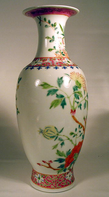 NICE CHINESE FAMILLE ROSE QING REPUBLIC PERIOD VASE