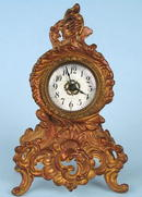 FINE FRENCH GILT BRONZE TABLE CLOCK ROCOCCO