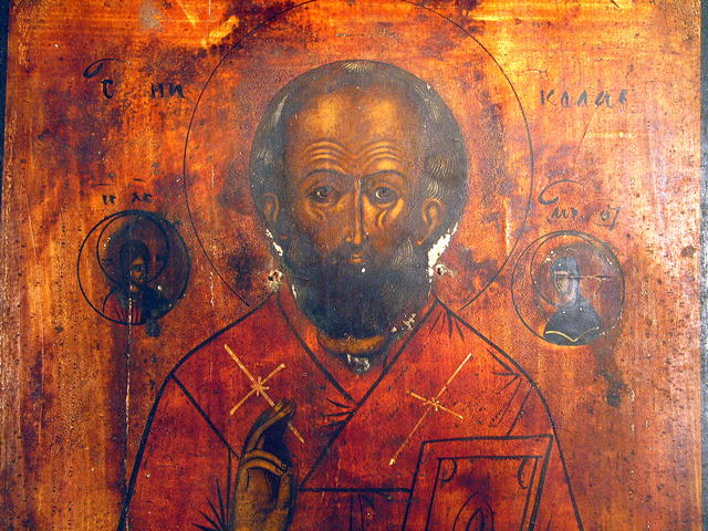 RUSSIAN ICON SAINT NICHOLAS BRINGS MESSAGE FROM JESUS
