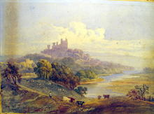 John Prescott Knight LISTED ARTIST WATERCOLOR CASTLE
