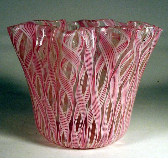 Murano Fazzoletto Corroso Handkerchief Vase Venini era