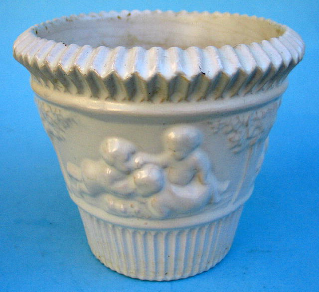 RARE ROSEVILLE DONATELLO WHITE PLANTER TRIAL GLAZE