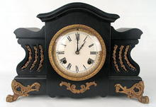 STYLISH NEW HAVEN CLOCK PAW FEET ORMOLU MOUNTS EBONY