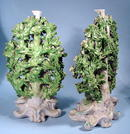 LARGE PAIR OF EARLY CHELSEA CANDLESTICKS BOCAGE 18c