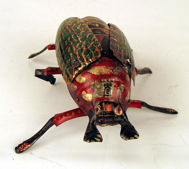 EARLY LEHMANN WIND UP BEETLE TOY WORKS c1910