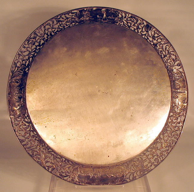 DUTCH RETICULATED STERLING SILVER CHARGER PIERCED
