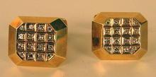 ELEGANT 14K 1 CARAT DIAMONDS CUFFLINKS GERMANY 1920s