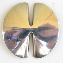 LARGE GEORG JENSEN SIGNED STERLING BROOCH / PIN 337 B