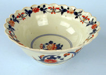 JAPANESE EDO / MEIJI FLUTED BOWL IN JAPANESE TASTE