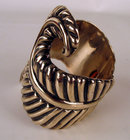 Signed Mexican Taxco Sterling Designer Cuff Bracelet  Sterling Eagle mark 3