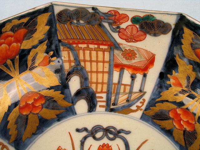 STUNNING JAPANESE MEIJI EDO IMARI OCTAGONAL BOWL