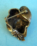 Very nice and well done silver pin or brooch of a 1900s woman with a great hat on. About 1.5