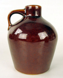 NICE SMALL ROYCROFT STONEWARE POTTERY JUG MAPLE SYRUP