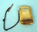 RARE AND UNUSUAL VICTORIAN 14K GOLD FILLED MATCH HOLDER AND CHAIN