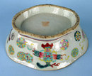 GOOD CHINESE TONGZHI MARK AND PERIOD FOOTED BOWL QING DYNASTY 1870S FAMILLE ROSE