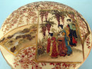 QUALITY LARGE SATSUMA MEIJI JAPANESE COVERED BOX KOGO SIGNED TAIZAN