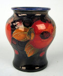 FINE MOORCROFT POMEGRANATE MINI 3 1/2'' VASE SIGNED COBALT
