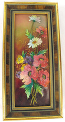Amazing Camille Faure Limoge Enamel Plaque Floral Outstanding
