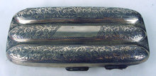 OUTSTANDING VICTORIAN CIGAR STERLING SILVER CASE HOLDS 3