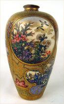 Stunning Satsuma Miniature Meiji Japanese Masterpiece Rooster Vase