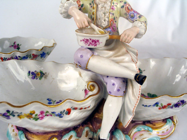 QUALITY PAIR OF 19th CENTURY  MEISSEN SWEETMEAT FIGURES