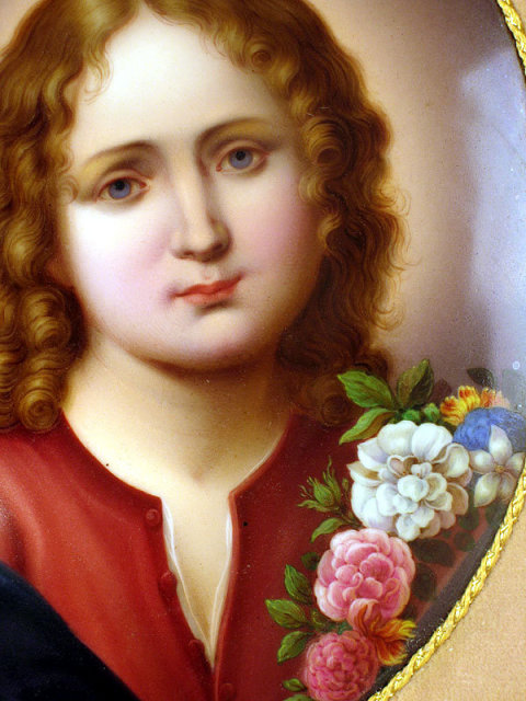 STUNNING KPM QUALITY PORCELAIN PLAQUE GERMAN DRESDEN