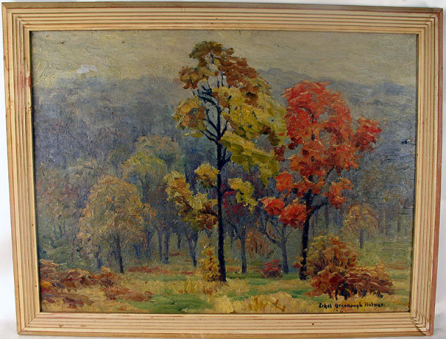 Lovely Fall Wooded Landscape Oil Painting By Ethel Greenough Holmes Lovely Fall Wooded Landscape Oil Painting
