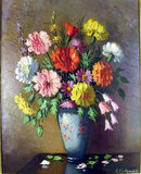 BEAUTIFUL FLORAL STILL LIFE  OIL PAINTING BY LISTED ARTIST  ALISON MCKENZIE