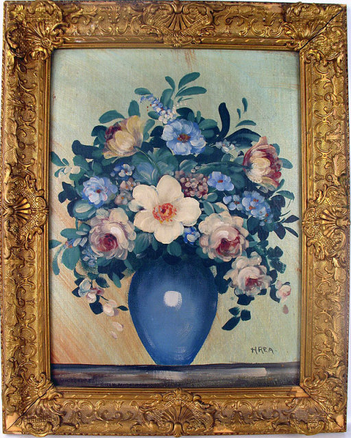 FINE OIL ON CANVAS BOARD BY H.REA IN BEAUTIFUL PERIOD FRAME