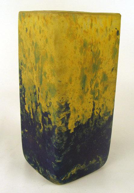 Fine Art Deco Daum Cameo style glass Vase
