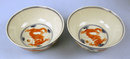 Fine Chinese Qing pair of Dragon Bowls 4 Toed Qianlong