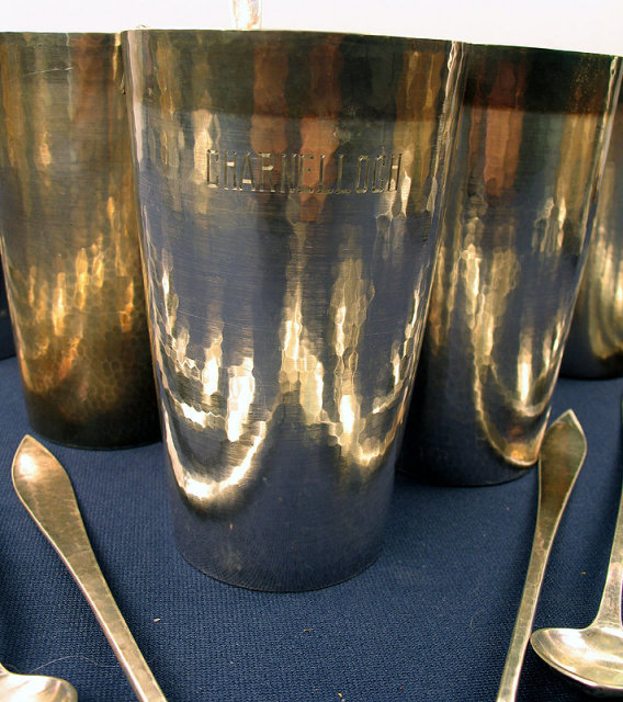 Kalo Shops Iced Tea Mint Julep Sterling Cups Teaspoons